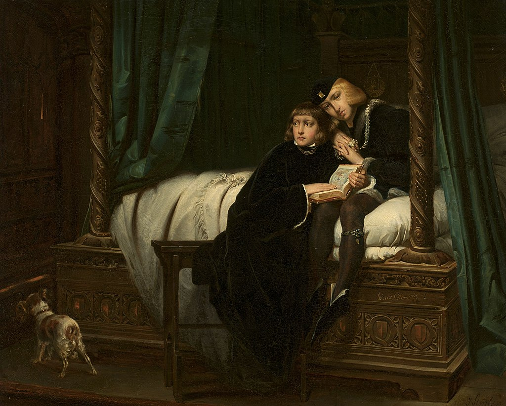 Юзеф Зиммлер - Дети короля Эдуарда (копия, по Поля Деларошу) - 184213 - Национальный музей в Варшаве.jpg