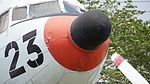 JMSDF R4D-6Q(9023) radome right front view at Kanoya Naval Air Base Museum April 29, 2017.jpg