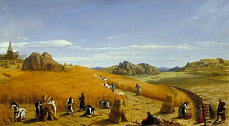 Rule of Saint Benedict - Ora et Labora (Pray and Work). This 1862 painting by John Rogers Herbert depicts monks at work in the fields