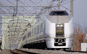 Akagi (train) - A 651-1000 series EMU on an Akagi service, March 2014