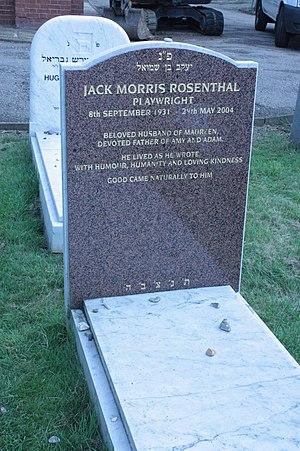 Jack Rosenthal - Jack Rosenthal's grave, Golders Green, London