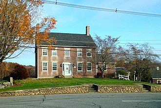 National Register of Historic Places listings in Uxbridge, Massachusetts - Image: Jacob Aldrich House, National Historic Site, Uxbridge, MA