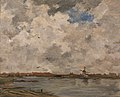 Jacob Henricus Maris (1837-1899) - A Windmill and Houses beside Water, Stormy Sky - NG4269 - National Gallery.jpg