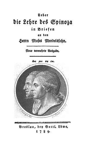 Pantheism controversy - Über die Lehre des Spinoza, 2nd ed. (1789)