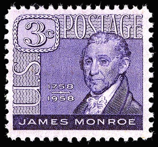James Monroe 1958 Issue-3c