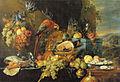 Jan Davidsz de Heem - Abundant Still Life with a Parrot - c. 1655.jpg
