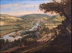 Jan Siberechts - Henley-on-Thames from the Wargrave Road, Oxfordshire