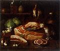 Janez Andrej Herrlein - Kuhinjsko tihožitje z mačko.jpg