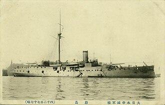 Japanese cruiser Itsukushima - Image: Japanese cruiser Itsukushima