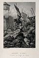 Jeanne d'Arc, at the siege of Paris. Line engraving by Roze, Wellcome V0015278.jpg