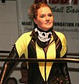 Jessicka Havoc before a match with Reby Sky in May 2012.jpg