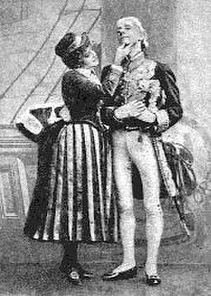 Jessie Bond - Bond as Cousin Hebe with Grossmith as Sir Joseph in H.M.S. Pinafore, 1887 revival