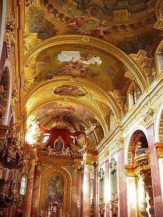 Jesuit Church, Vienna - Image: Jesuitenkirche(Unive rsitätskirche), Vienna (interior)