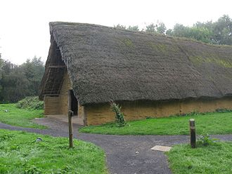 Balbridie - Reconstruction of a Neolithic long house of the type discovered at Balbridie