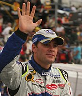 Jimmie Johnson at Bristol Motor Speedway in 2007