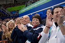 Joe & Jill Biden at 2010 Winter Olympics Pairs Figure Skating Short Program 2010-02-14.jpg