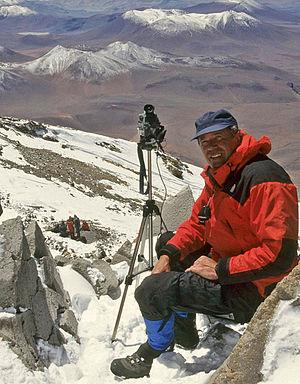 Johan Reinhard - Johan Reinhard, Llullaillaco volcano, 1999