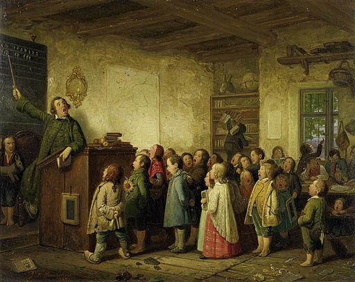 Johann Peter Hasenclever - Die Dorfschule