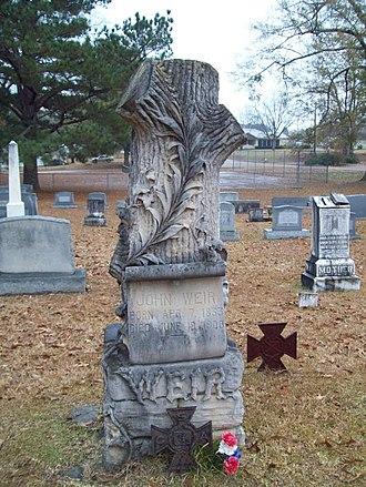 Weir, Mississippi - Image: John Weir Grave