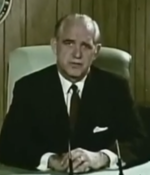John E. Davis (North Dakota politician) - Image: John E. Davis in 1969 Civil Defense film