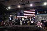 John McCain, Jay Feely, Jeff Flake, Cheryl Flake, Cindy McCain & Mitt Romney with supporters (23628189481).jpg