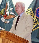 John McCain speaks at an NCO leadership development class at Fort Dix 2001 (cropped).jpg