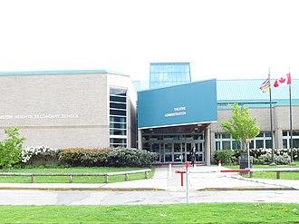 Johnston Heights Secondary School - Image: Johnston Heights Secondary entrance (2010)