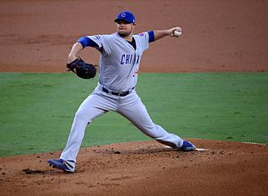 Jon Lester - Lester pitching in the 2016 National League Championship Series
