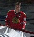 Jonathan Toews Chicago Blackhawks Stanley Cup Banner Ceremony (5103677205).jpg