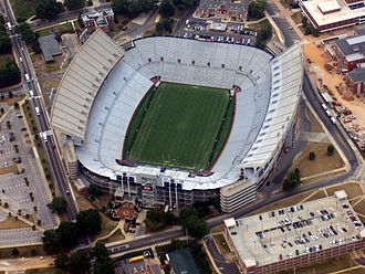 Kick Six - Jordan–Hare Stadium, where the 78th Iron Bowl was played