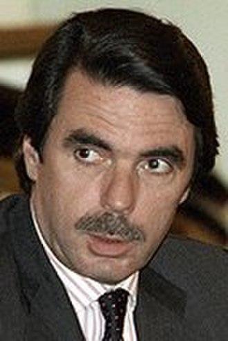 Spanish general election, 2000 - Image: José María Aznar 2002c (cropped)
