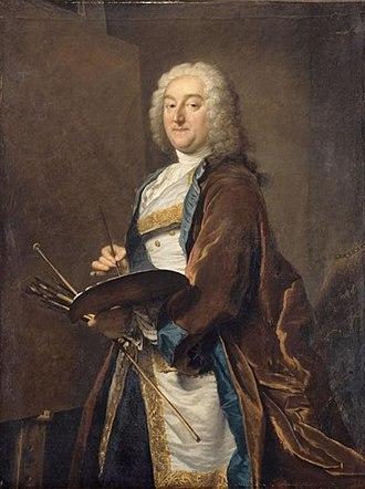 Jean François de Troy - Portrait of Jean-Francois de Troy by Joseph Aved, 1734