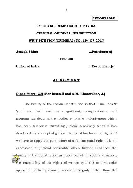 File:Joseph Shine vs Union of India (Adultery Judgement).pdf