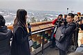 Journalist reporting the first snowfall of 2020 at Wanchun Pavilion (20200106120047).jpg
