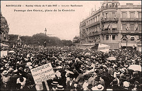 Le 9 Juin 1907 Pancarte A La Gloire De Marcelin Albert