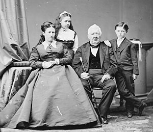 Jesse Root Grant (politician) - Julia Grant with daughter Nellie, son Jesse, and her father Frederick Dent