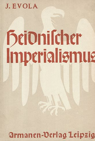 Julius Evola - Title page of Heidnischer Imperialismus (1933), the German translation of Julius Evola's book Imperialismo Pagano (1928).