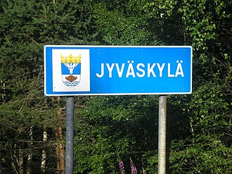 Ä - Sign of Jyväskylä, city in Finland.