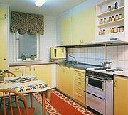 Ett svenskt standardkök från sena 1950-talet.