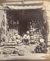 KITLV 100486 - Unknown - Shop for pottery in British India - Around 1870.tif