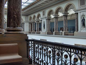 Royal Museums of Fine Arts of Belgium - View on the upper floor
