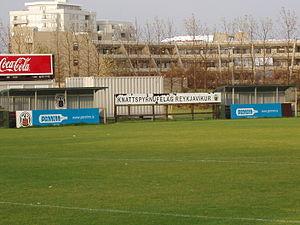 KR-völlur - Image: KR völlur dugouts opposite main stand