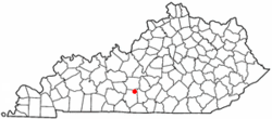 Location of Hiseville, Kentucky