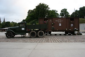 Soviet deportations from Estonia - Exhibition of vehicles similar to these that were used for deporting people to Siberia in 1941.