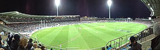 Kardinia Park (stadium) - An AFL night match at Simonds Stadium (2014)