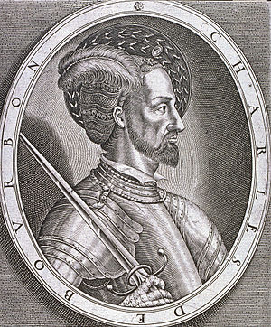 Charles III, Duke of Bourbon - An engraving of Charles, Duke of Bourbon