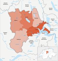 Karte Kanton Luzern Bezirke 2010.png