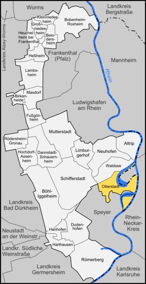 Otterstadt - Image: Karte Otterstadt
