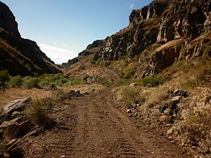 Kasagh River canyon - view from bottom 03.JPG