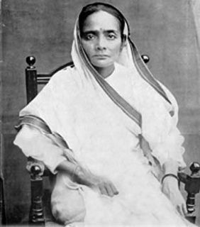 Kasturba Gandhi Wife of Mahatma Gandhi, an Indian leader of British era